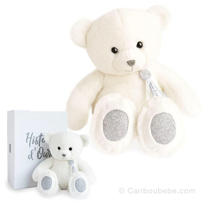Peluche Ours Blanc 40cm Charms Histoire d'Ours