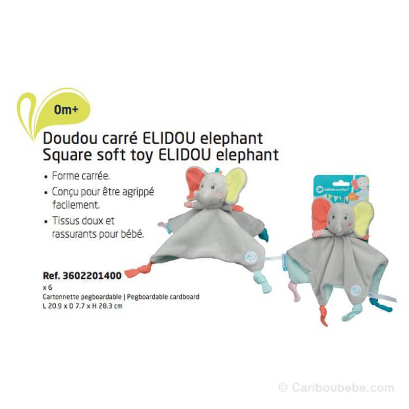 Doudou Carré Éléphant Elidou Bébé Confort