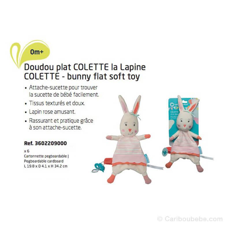 Doudou Plat Lapin Colette Bébé Confort