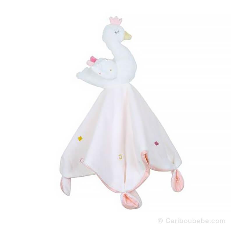 Doudou Mouchoir Baby Swan 40x40cm Sauthon Baby Déco