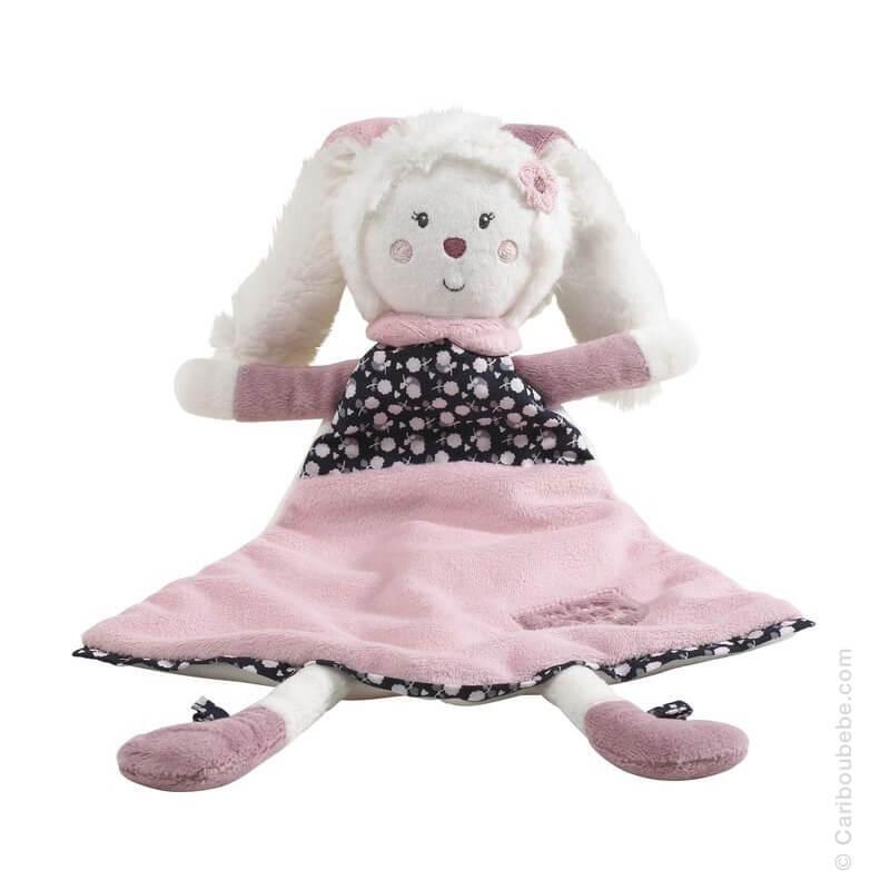 Doudou Mouchoir 19x30cm Miss Chipie Sauthon Baby Déco