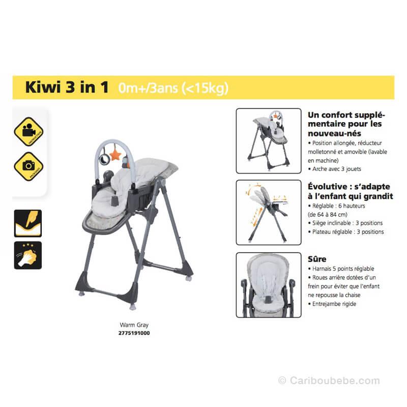 Chaise Haute Kiwi 3 en 1 Safety
