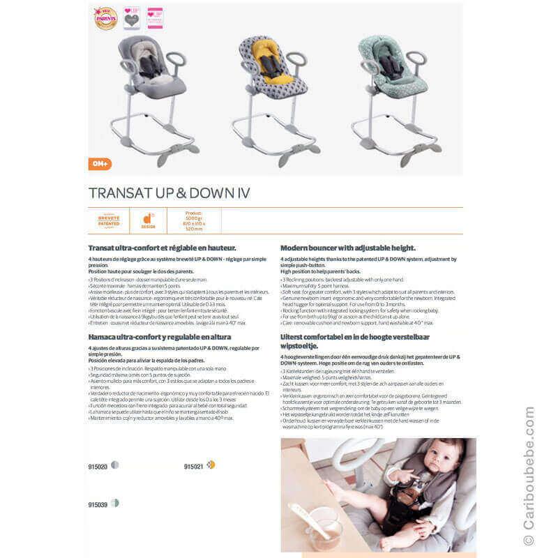 Transats Up-Down4 0M Béaba