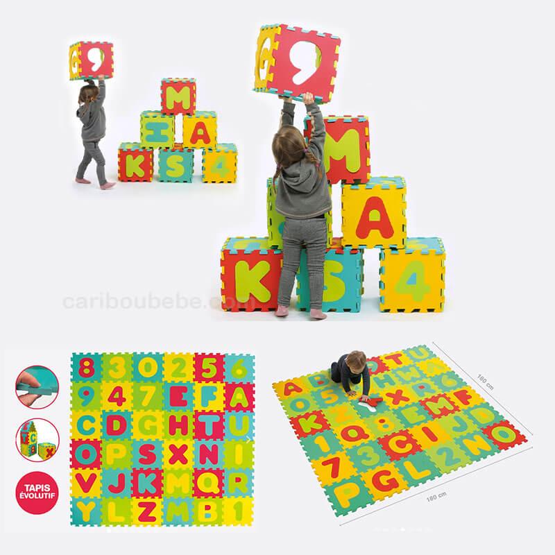36 Grandes Dalles Lettres & Chiffres 180x180cm +10M Ludi