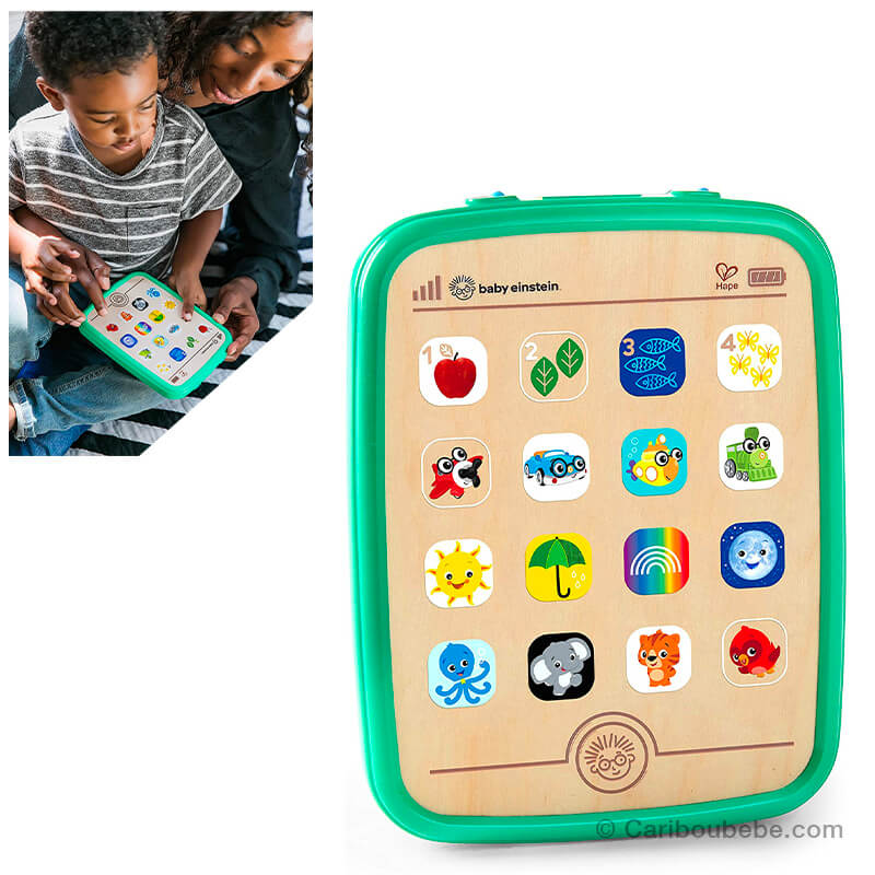 Tablette Tactile Bois & Plastique +6M Hape