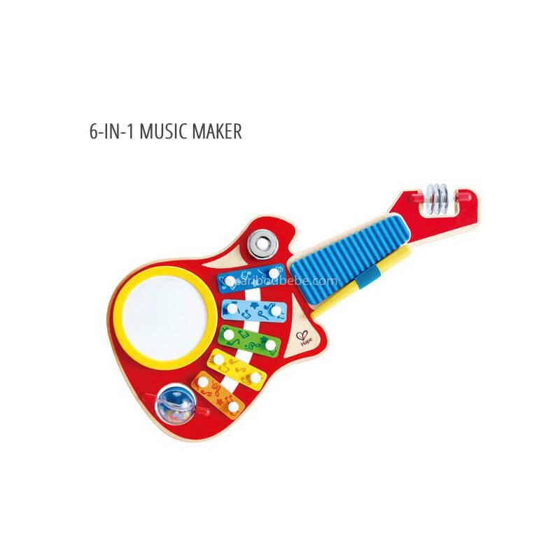 Guitare 6 In 1 Music Maker +18M Hape