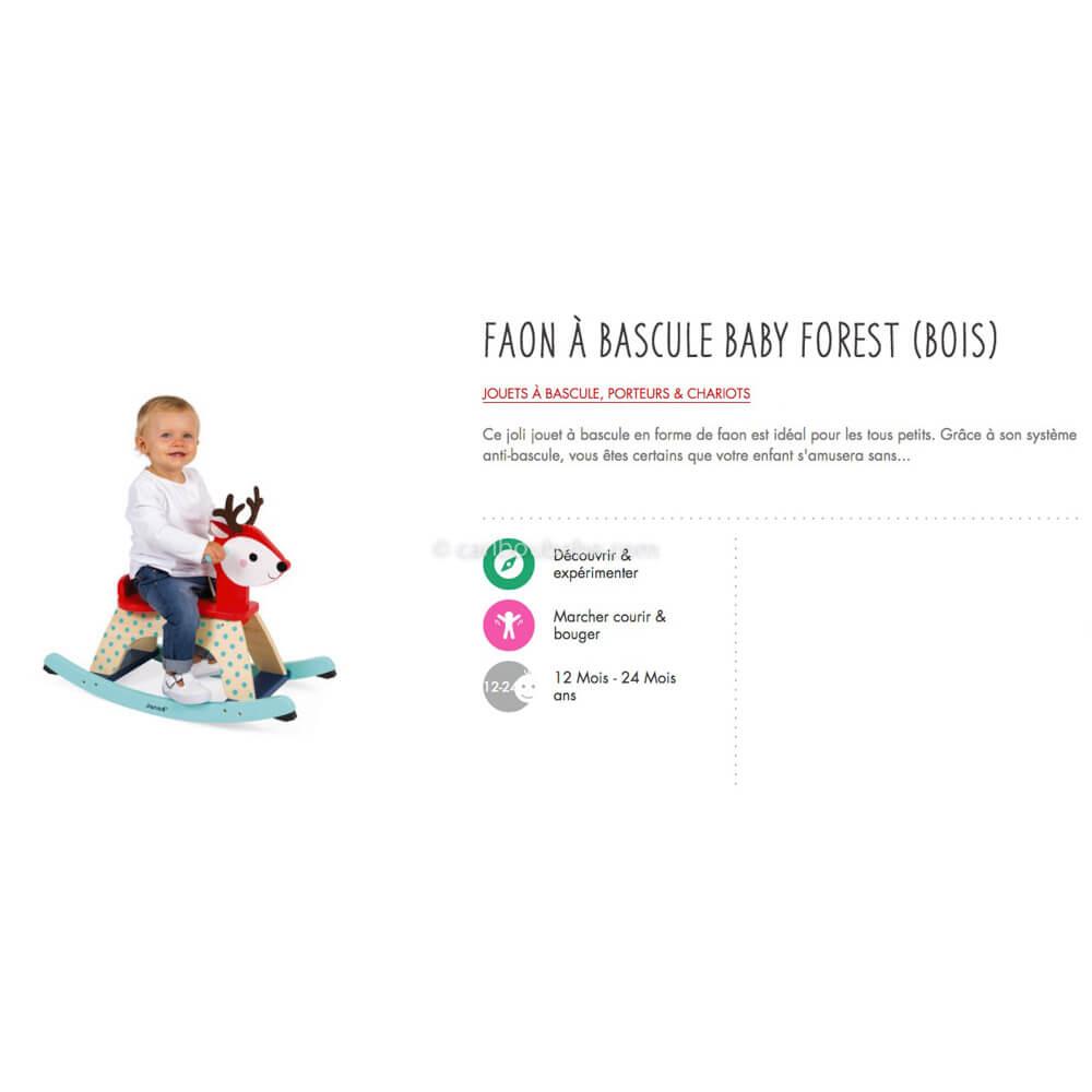 Faon à Bascule Baby Forest Bois 12-24M Janod