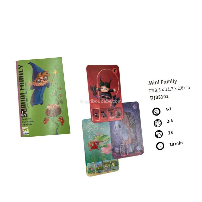 Jeu de Cartes Mini Family 4-7A Djeco