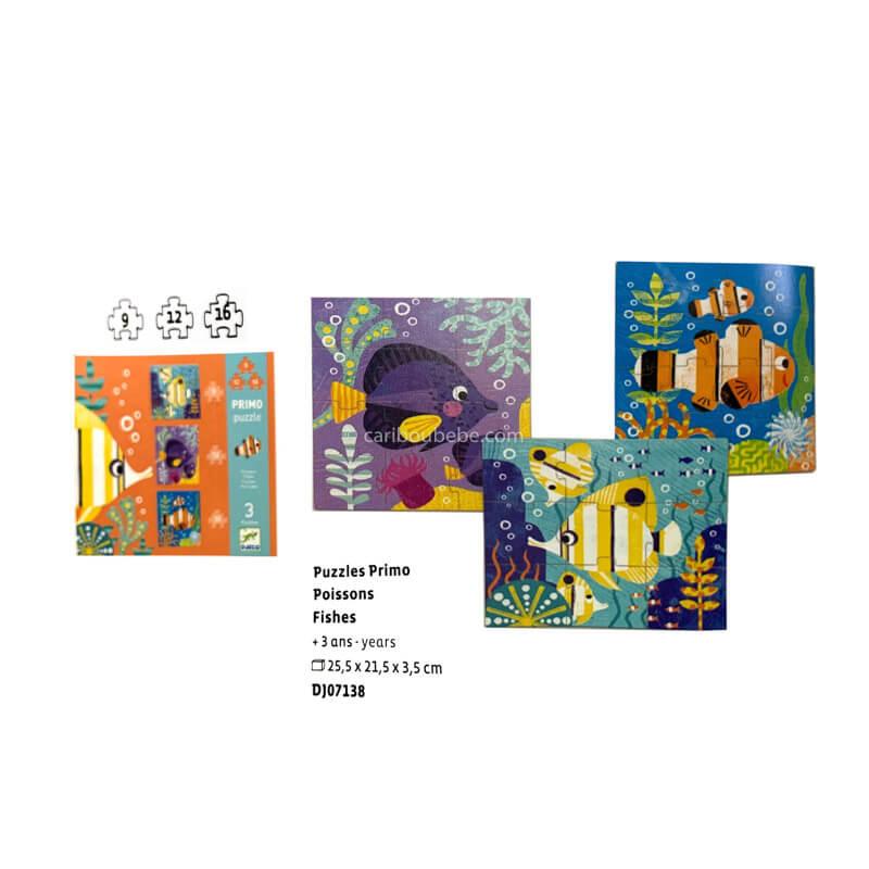 Puzzles Primo Poissons +3A Djeco