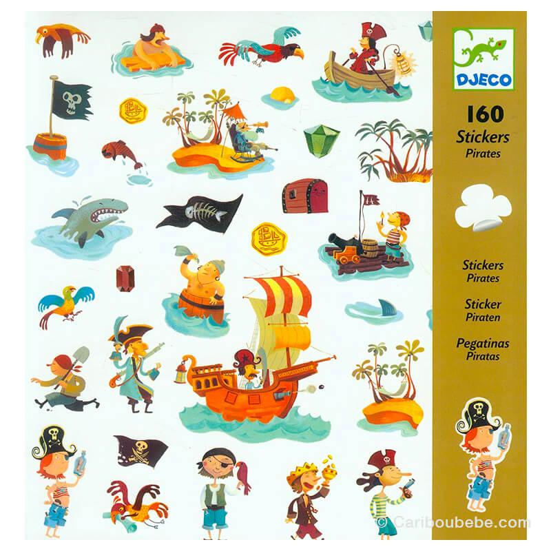 Stickers Papiers Pirates 4-8A Djeco