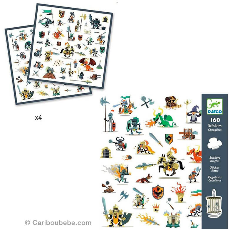Stickers Papiers Chevaliers 4-8A Djeco