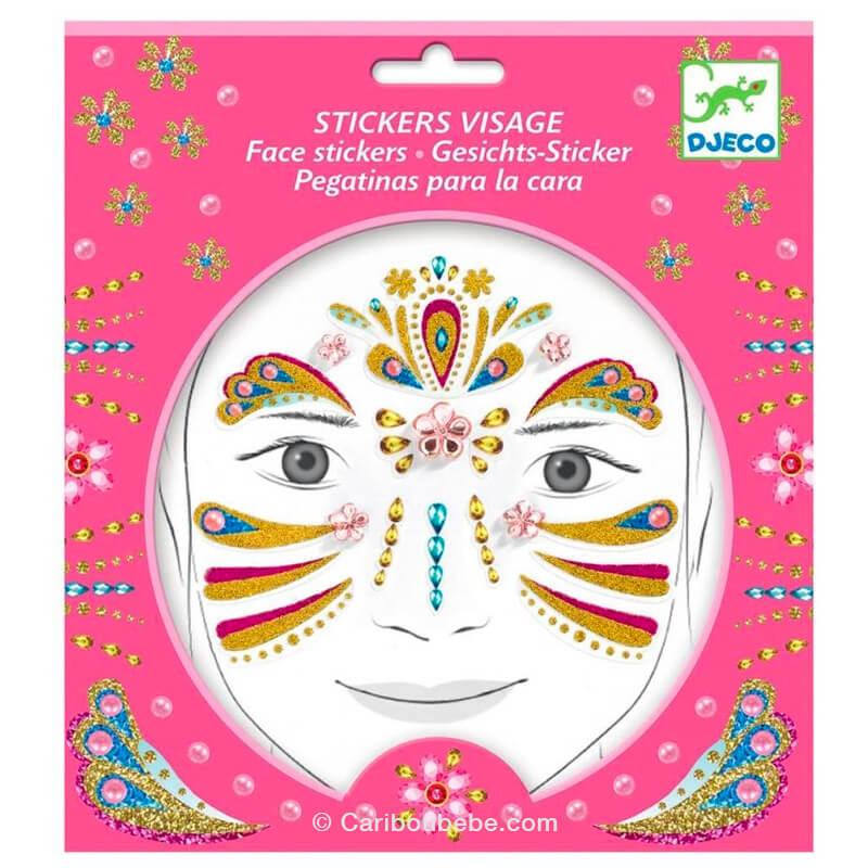 Stickers Visage Princesse Or +3A Djeco