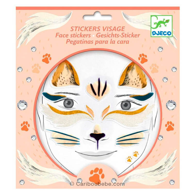 Stickers Visage Chat +3A Djeco