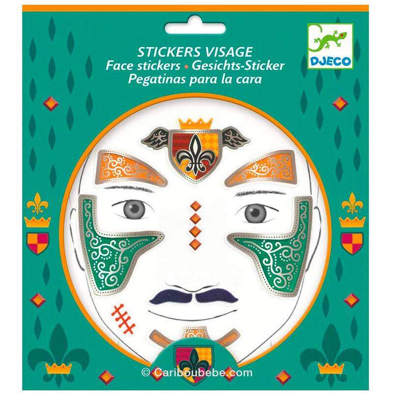 Stickers Visage Chevalier +3A Djeco