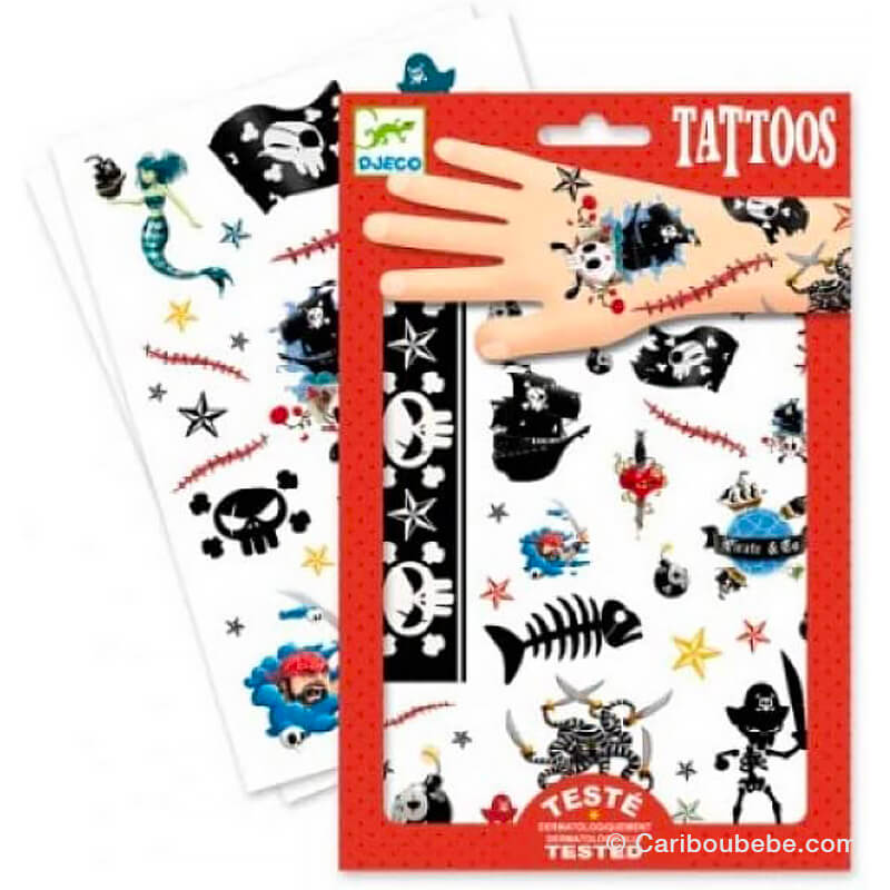 Tatouages Pirates +3A Djeco
