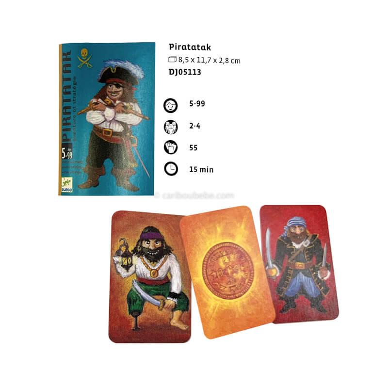 Jeu de Cartes Piratak 5-99A Djeco