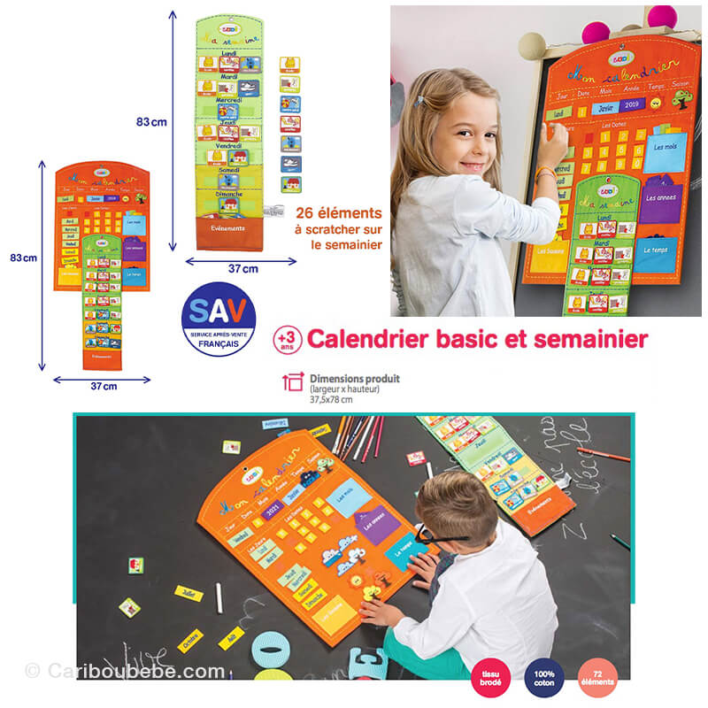 Calendrier Basic & Semainier  3A Ludi