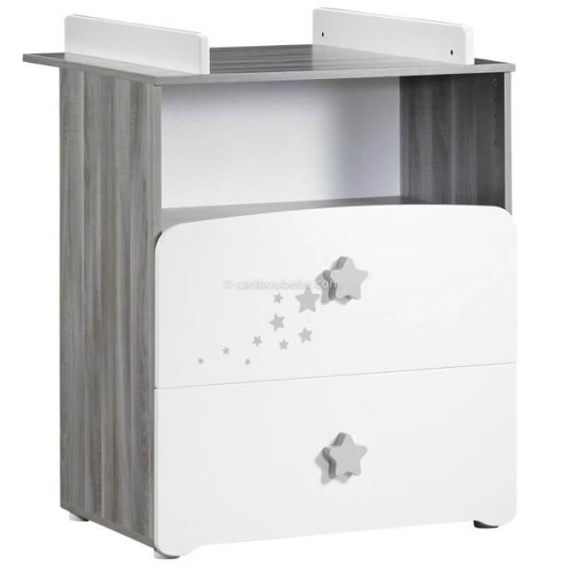 Commode à Langer 2 Tiroirs 1 Grande Niche New Nao Sauthon Baby Price