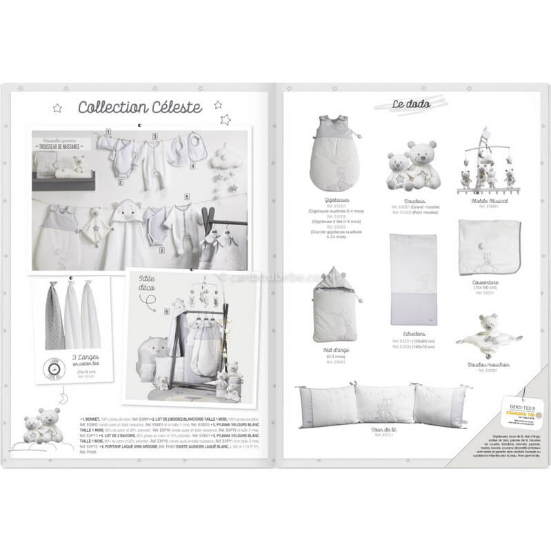 Collection Céleste Sauthon Baby Déco