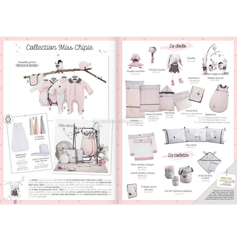 Collection Miss Chipie Sauthon Baby Déco
