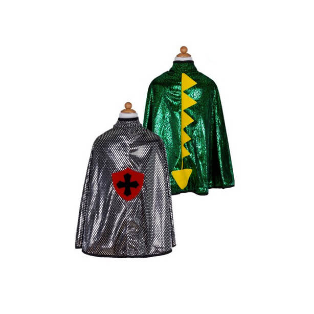 Dragon Knight Cape Green Silver Reversible Green Great Pretenders